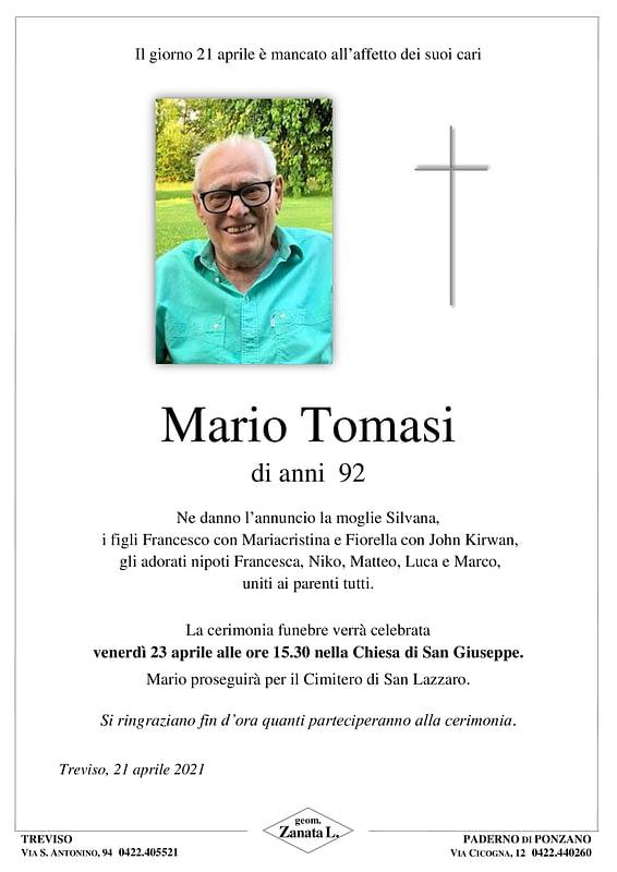 Mario Tomasi | Necrologio