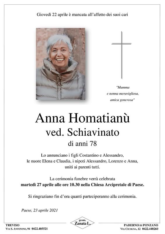Anna Homatianù | Epigrafe